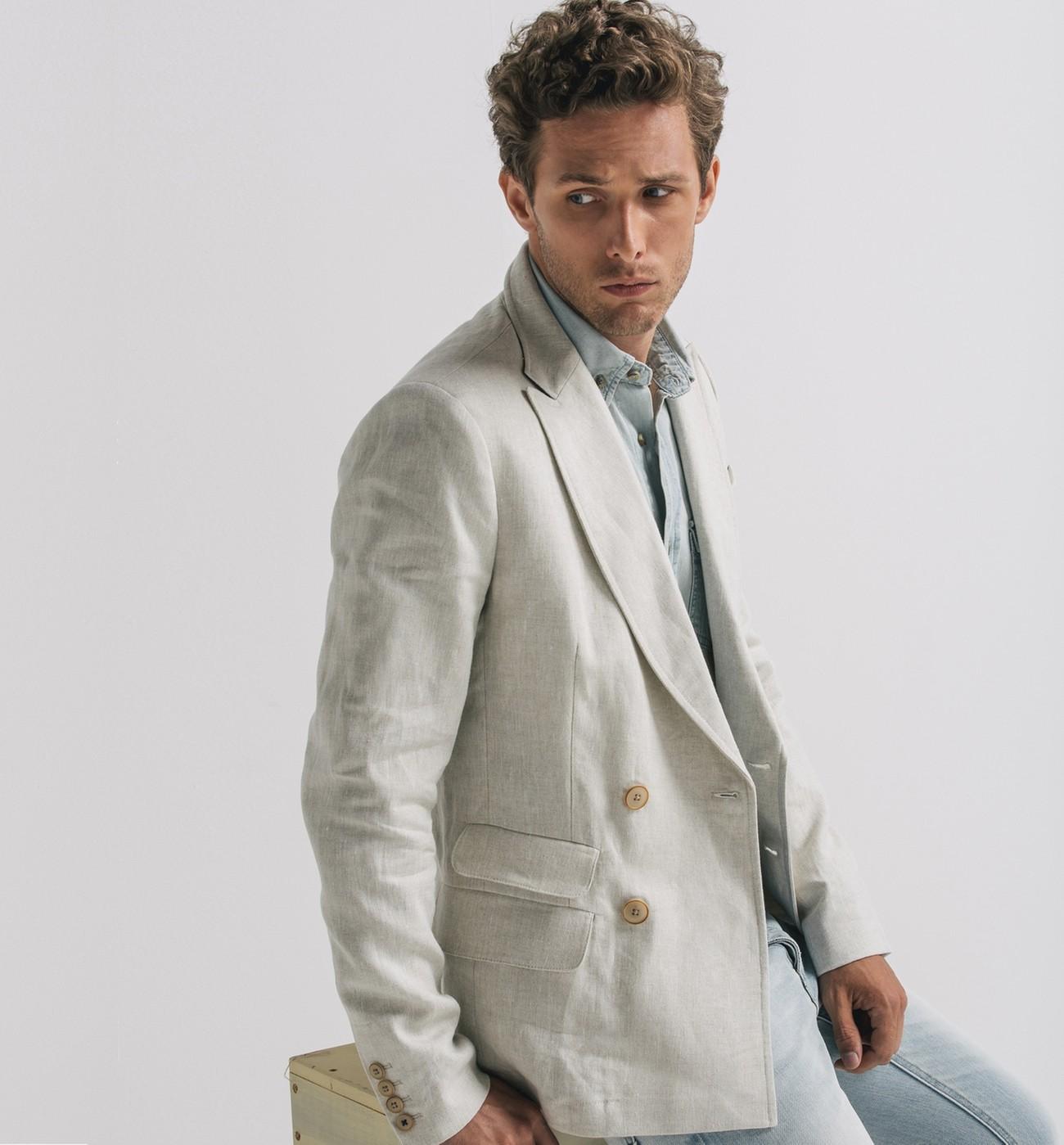 veste en lin homme un peu de chic dans un style tr s casual. Black Bedroom Furniture Sets. Home Design Ideas