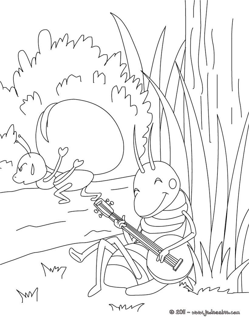 Comment dessiner une cigale et une fourmi - Dessin corbeau facile ...