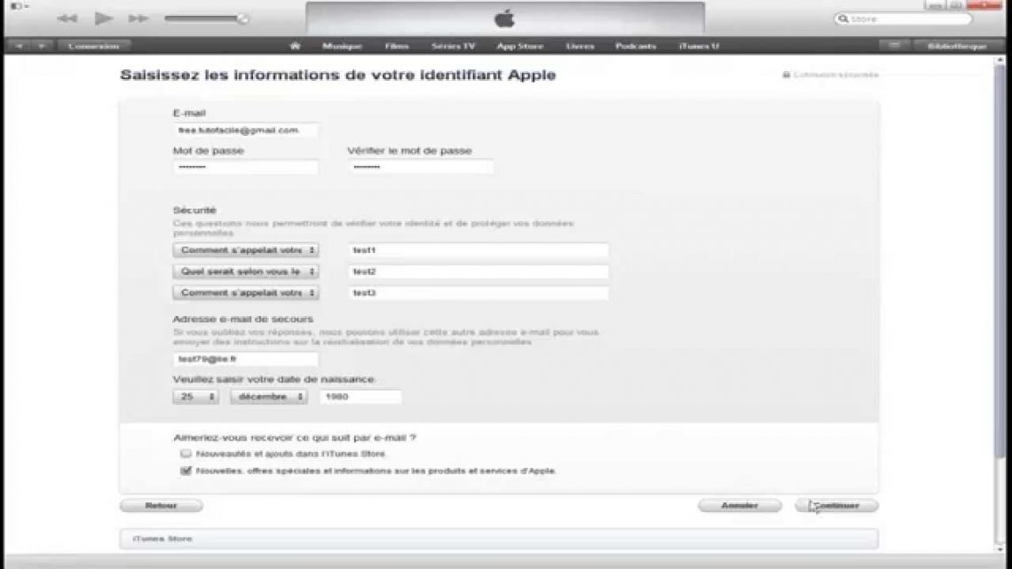 Comment creer un compte apple store
